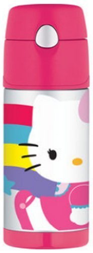 Thermos Funtainer Bottle, Hello Kitty Rainbow