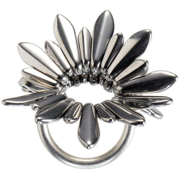 Marc By Marc Jacobs Silver Metal Spike Ring