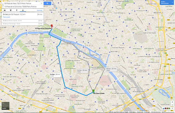 Google Maps mejora sus rutas europeas en bicicleta... pero se olvida de España