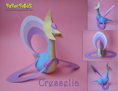 Pokemon Cresselia Papercraft