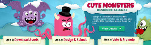 "Promoção ""Cute Monster Design Challenge"", do deviantART"
