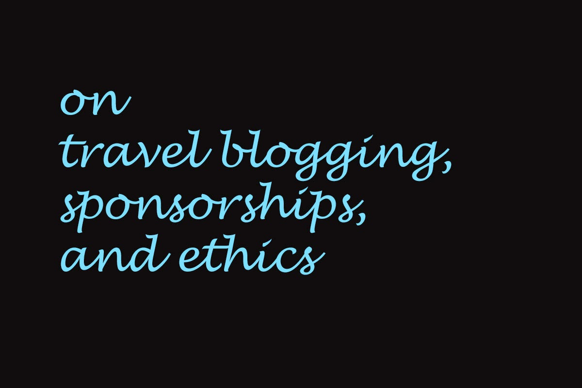 Blogging and sponsorships
