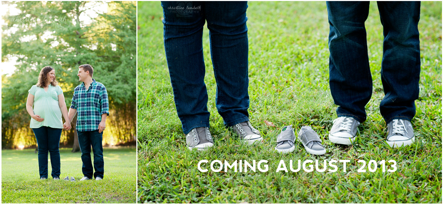 Maternity photos - Converse shoes baby announcement