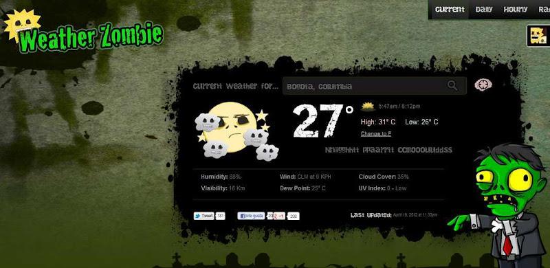 Weather Zombie te da el pronóstico del Clima al estilo Zombie