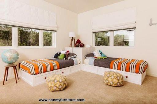 Các mẫu giường góc đẹp cho phòng ngủ nhỏ-5