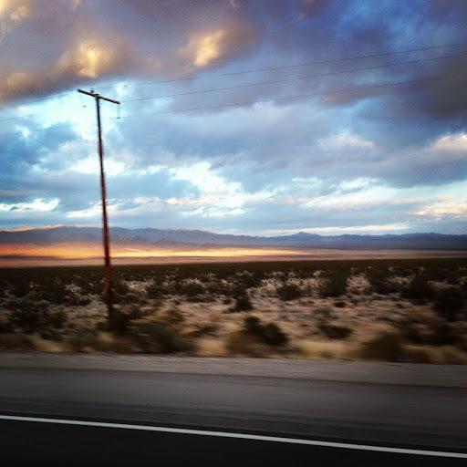 Mojave desert evening