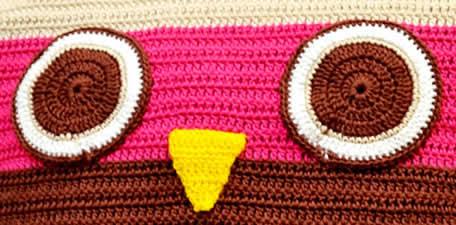 olhos almofada coruja