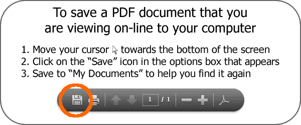 How to save PDF documents