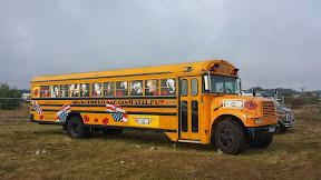 Na zdjęciu autobus wożący w ameryce dzieci do szkół