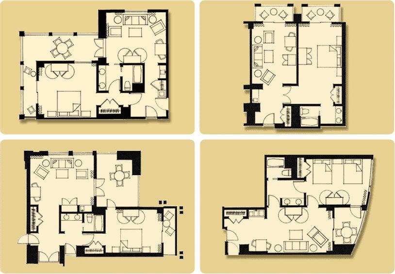 Disneyland hotel 1 bedroom suite floor plan www Disney grand californian 2 bedroom suite