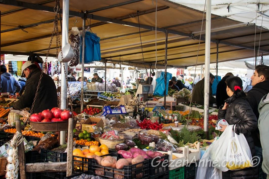 taze meyve sebze, Campo de Fiore Roma