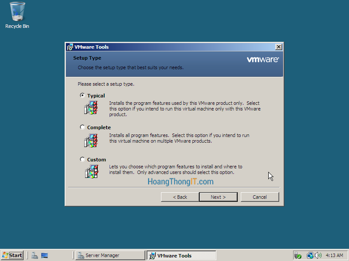 Cài đặt vmware tool