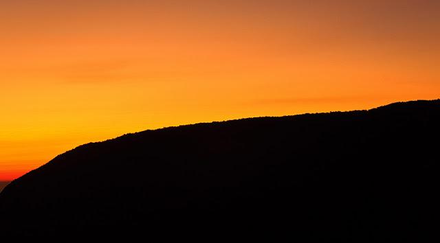 pemandangan pagi di gunung Gede