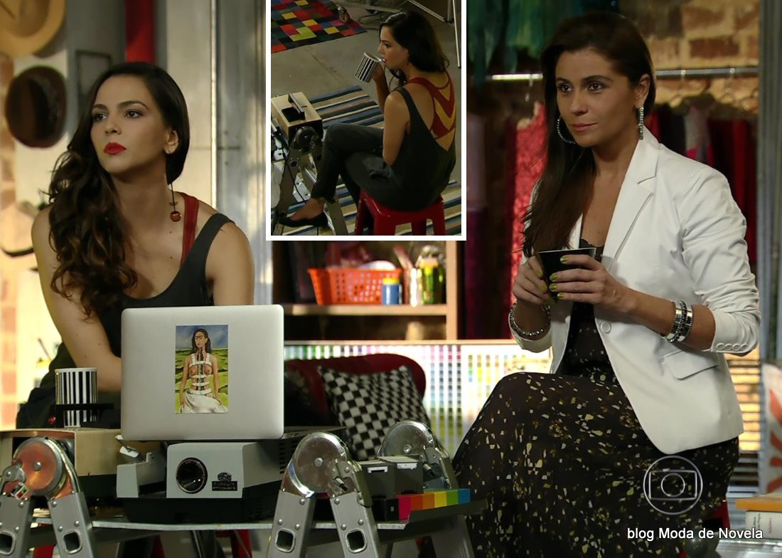 moda da novela Em Família - looks de Marina e Clara dia 13 de junho