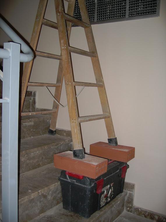 Escalera sobre escalera