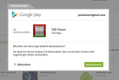 Google Play Uninstall