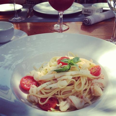 Blue marlin Ibiza, linguine seafood pasta