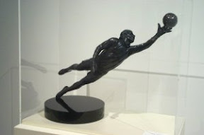 Bronze Soccer Sculpture