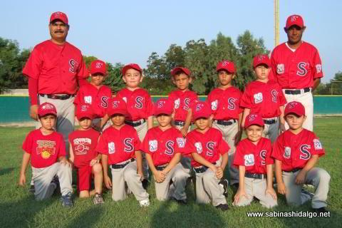 Equipo premoyote 2010 de la Liga Pequeña de Beisbol Sabinas Hidalgo