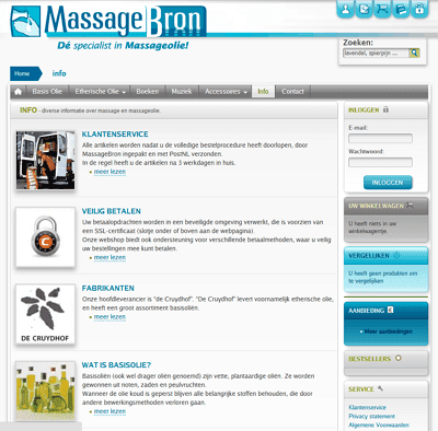 MassageBron Screenshot · ontwerp van Atelier Bram de Haan