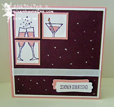 stampin up, in{k}spire_me #160, prosit, making spirits bright, birthday, geburtstag