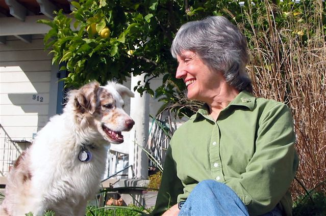 Donna Haraway and her dog