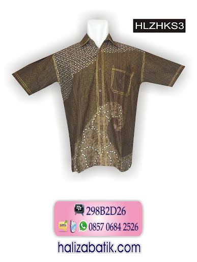 model batik kerja, gambar model baju batik, baju modern