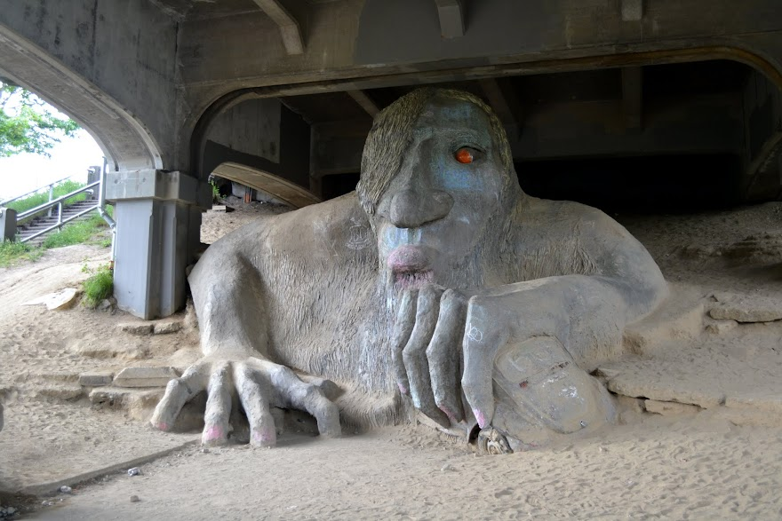 Главный троль страны, Фремонт, Сиэтл (The Fremont Troll, Seattle, Washington)