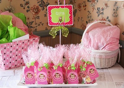 Classic events by kris baby shower ideas inspirations - Baby shower monkey decorations for a girl ...
