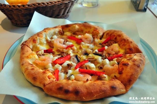 朵那披薩Dona Pizza白醬海鮮披薩