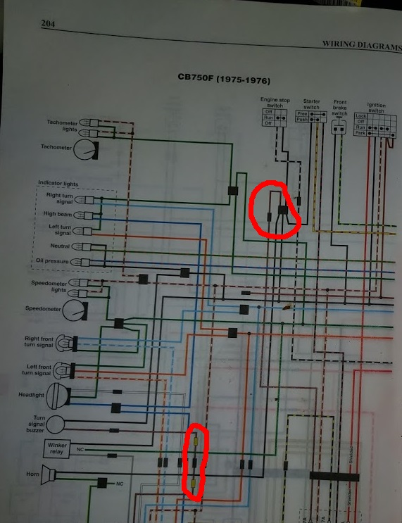 cb750 f1 wiring diagram wiring diagram1976 cb750 f1 wiring issue brown blue wireand for those that don\\u0027t believe,