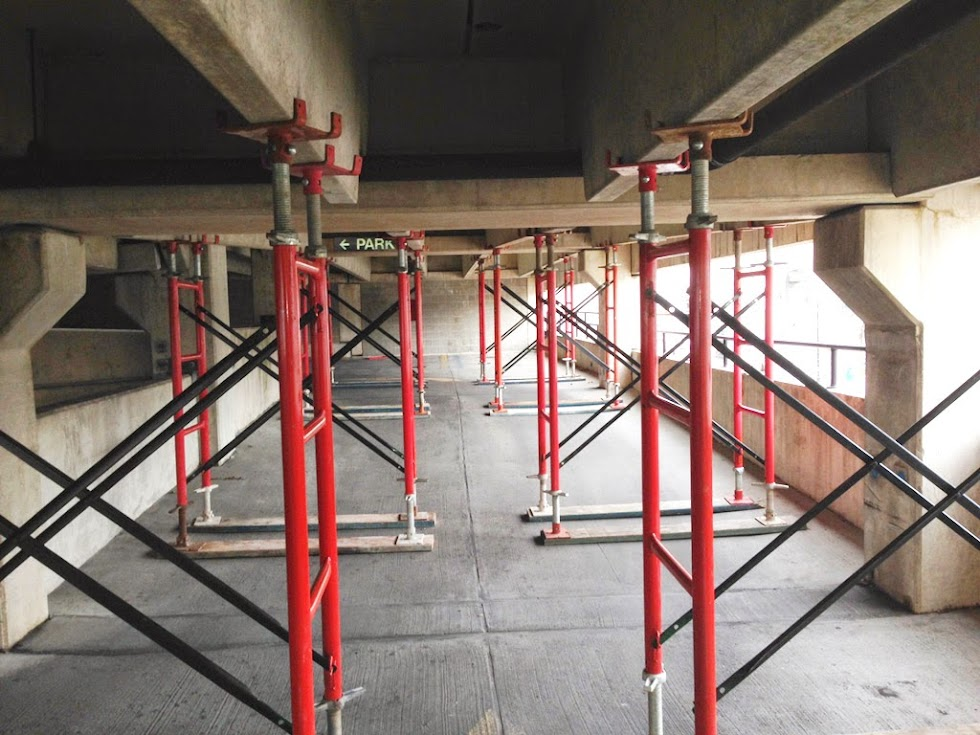 Shoring Up A Floor : Shoring up norristown pa parking garage concrete repair