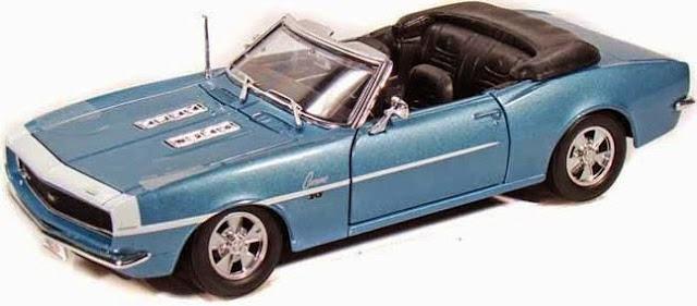 Hình ảnh tinh tế bắt mắt của chiếc Xe ô tô 1968 Chevrolet Camaro SS396 Convertible Maisto 31257