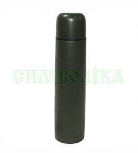 MFH Вакуумний термос 1л, гвинтова кришка олива:33250