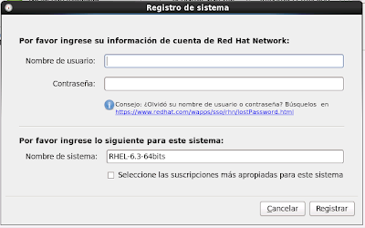Registro RedHat 6 Red Hat Subscription Management 3