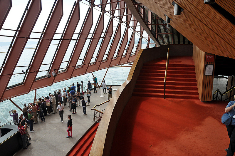 Visitors are shooting camera in Opera House
