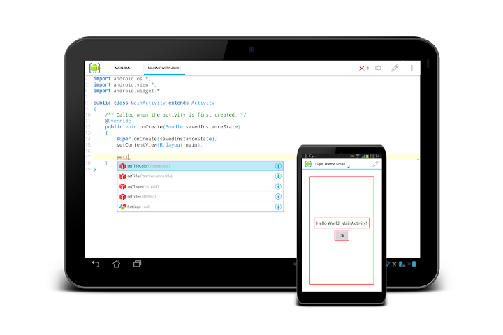 AIDE : android IDE di Android