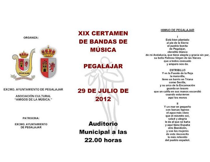 Certamen de Bandas de Música 2012