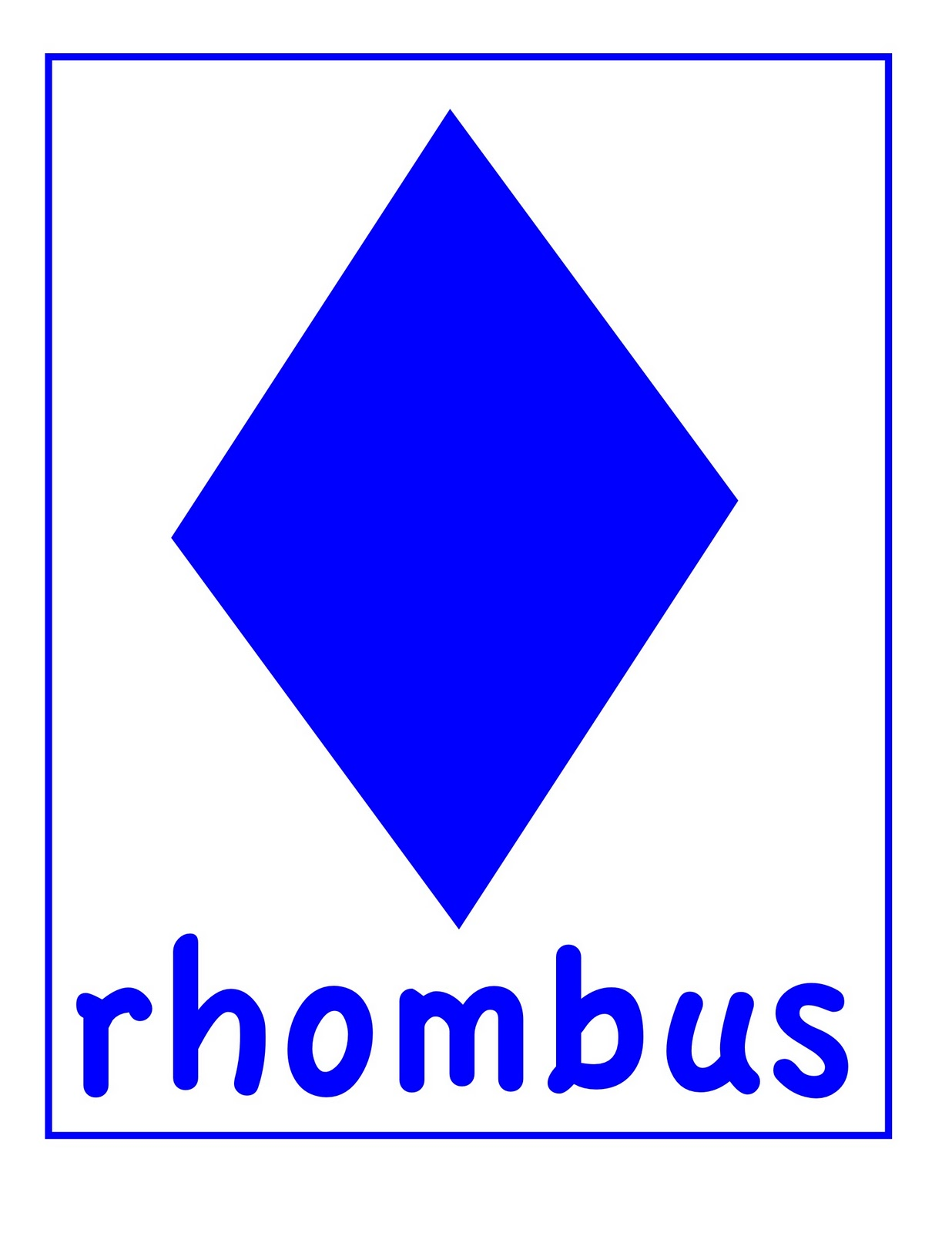 Preschool shapes rhombus : Rhombus Shape Printable for Preschool