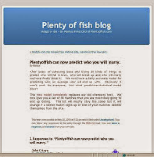 Plentyoffish New Test