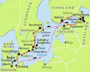 Ostseemetropolen, Rundreise, Heideker Reisen, www.heideker.de, Kopenhagen, Helsinki, Stockholm, Tallinn, St. Petersburg, Ostsee