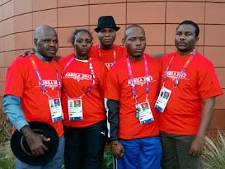 Des membres de la délégation congolaise aux Jeux olympiques de Londres 2012. Photo droits tiers.