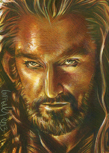 Richard Armitage as Thorin Oakensheild, ACEO Sketch Card by Jeff Lafferty