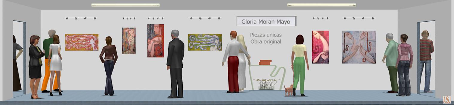 Sala de exposición virtual de Pinturas de Gloria Morán Mayo