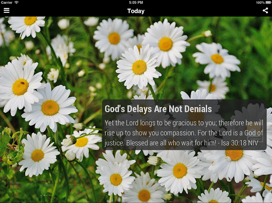 Daily Devotional App on iPad