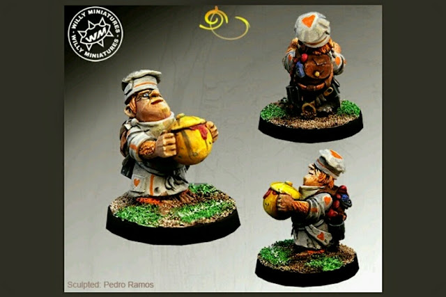 Chef Halfling Willy miniatures