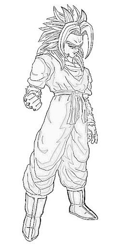 Dragon Ball AF Para Colorear
