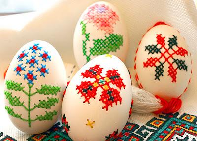 cross-stitch eggs
