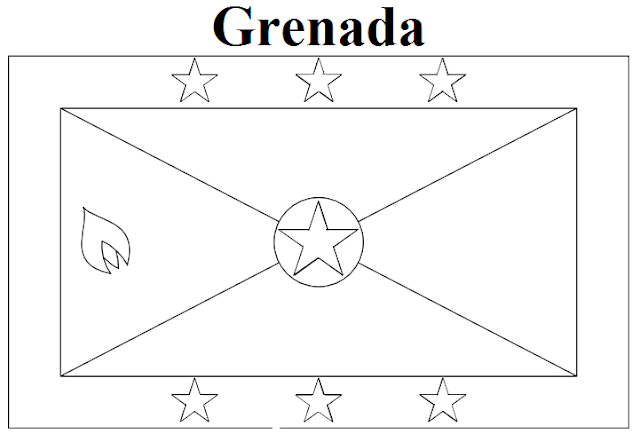 Geography Blog Grenada Flag Coloring Page