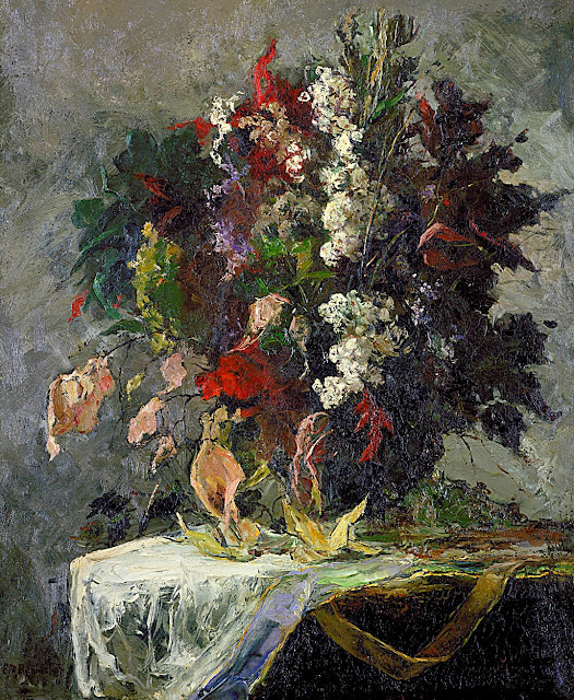 Edward Mitchell Bannister - Untitled (floral still life).